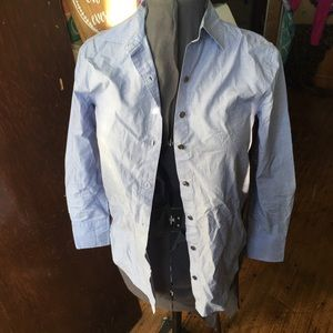 J Crew OP button down shirt with sequin sides